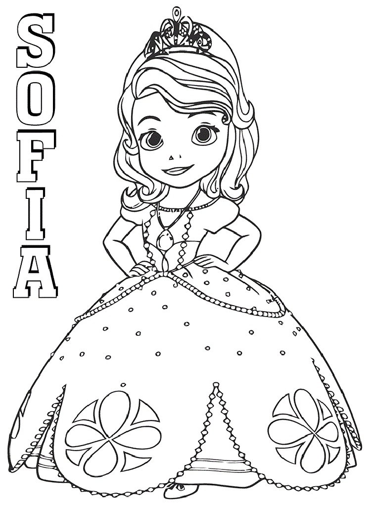 Top 20 Printable Sofia the First Coloring Pages