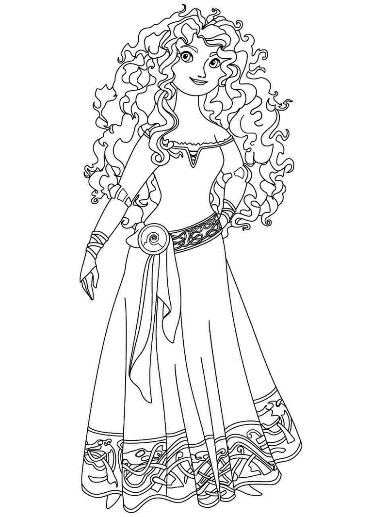 Top 20 Printable Merida Coloring Pages