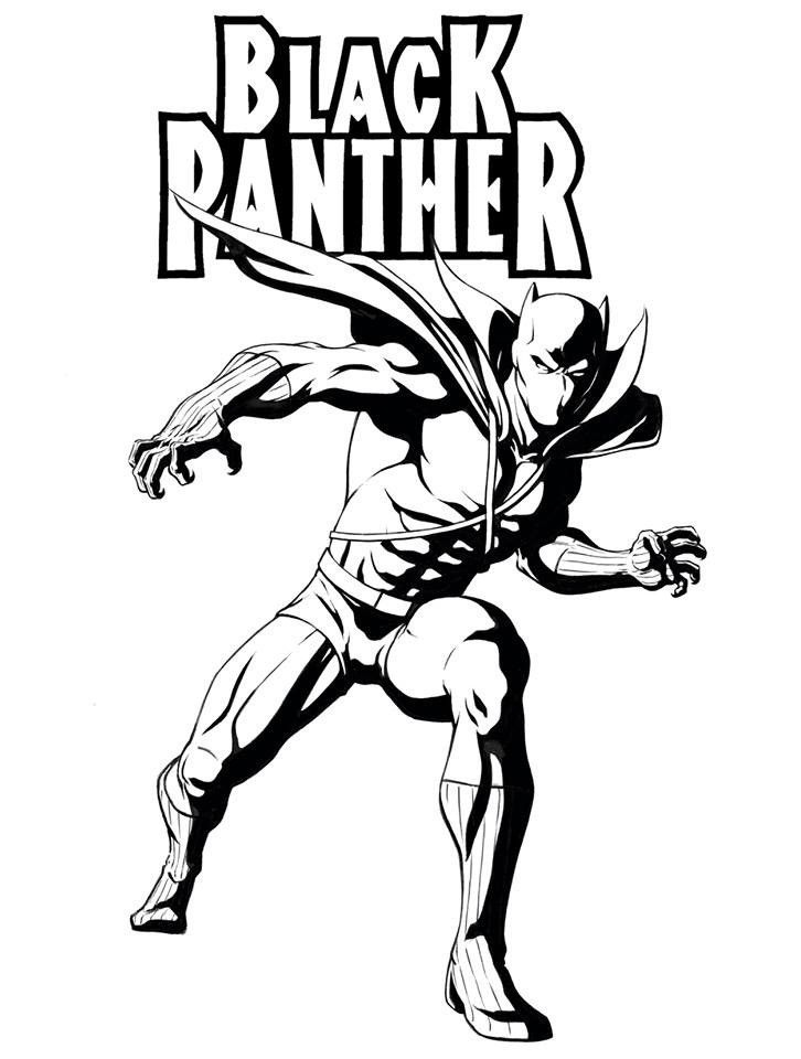 Top 20 Printable Black Panther Coloring Pages