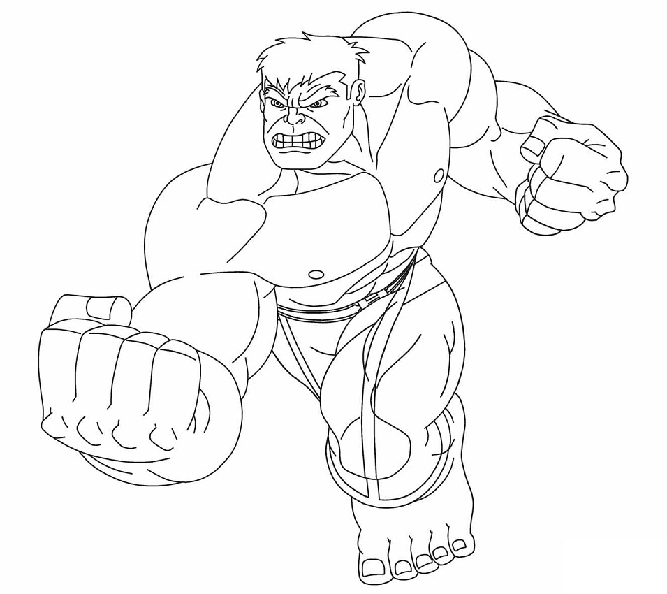 Top 20 Printable Hulk Coloring Pages