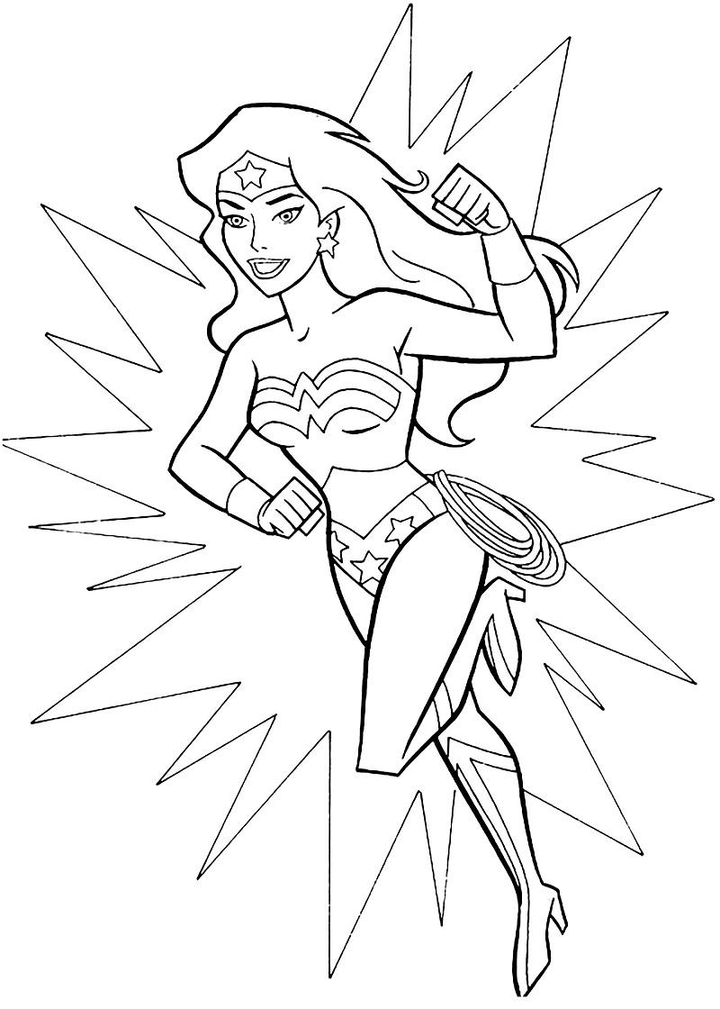 Top 20 Printable Wonder Woman Coloring Pages