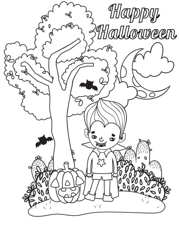 Top 20 Printable Halloween Vampire Coloring Pages