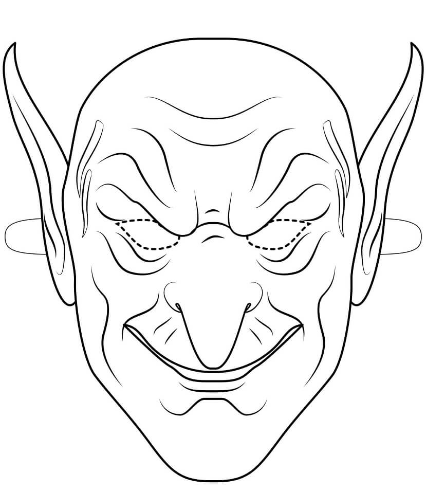 Top 20 Printable Halloween Mask Coloring Pages