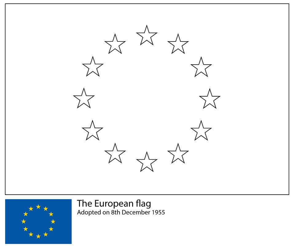 Top 30 Printable Flag Coloring Pages