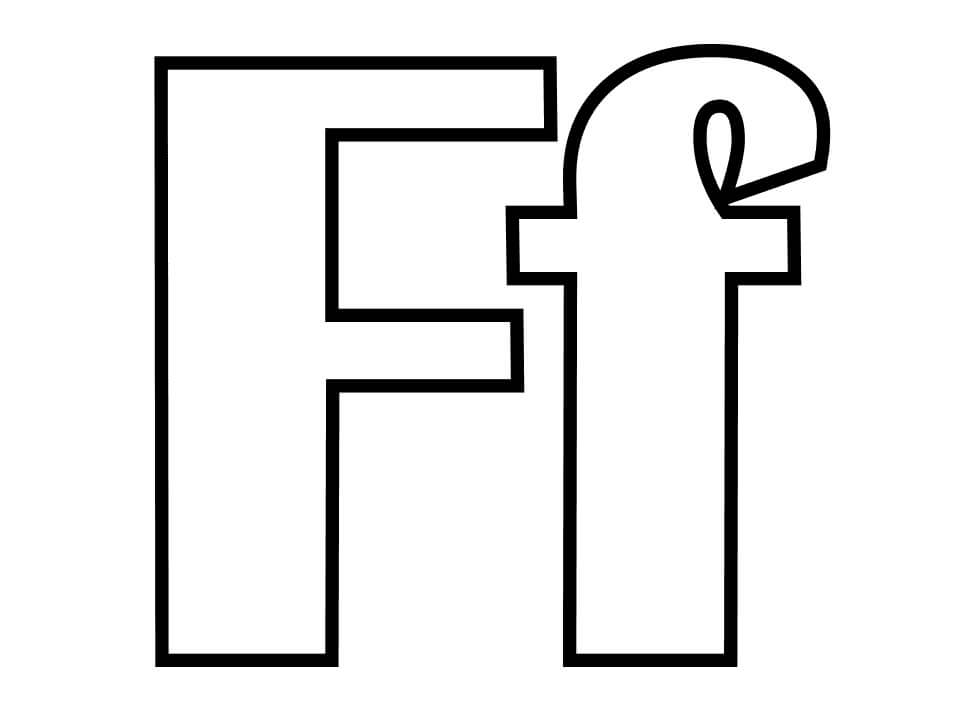 Top 20 Printable Letter F Coloring Pages