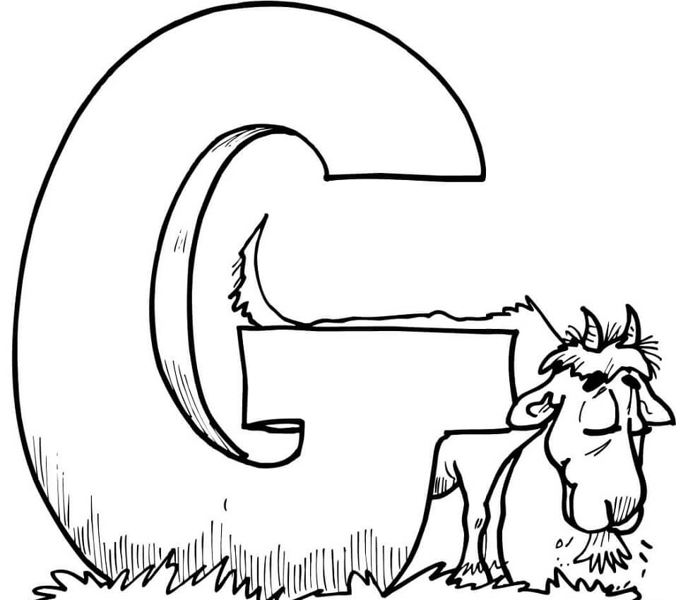Top 20 Printable Letter G Coloring Pages