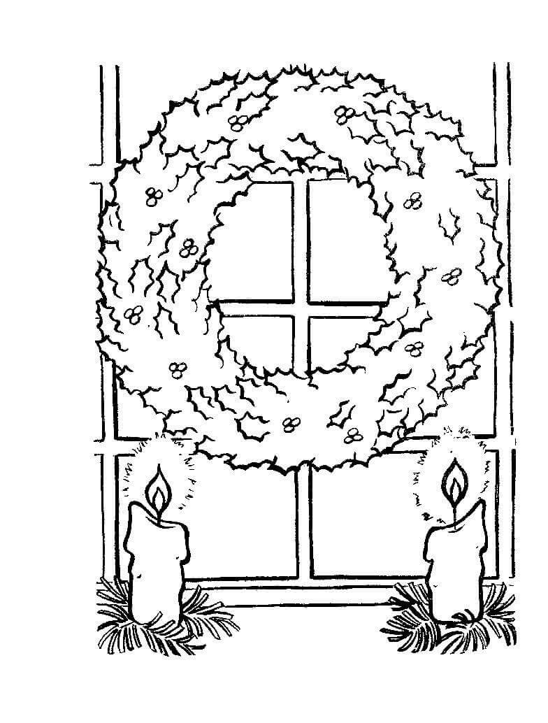 Top 20 Printable Christmas Wreath Coloring Pages