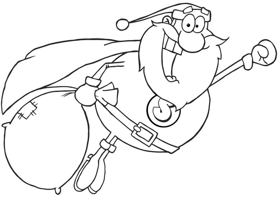 Top 20 Printable Santa Claus Coloring Pages