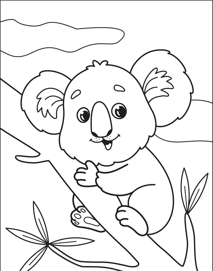 Top 40 Printable Koala Coloring Pages