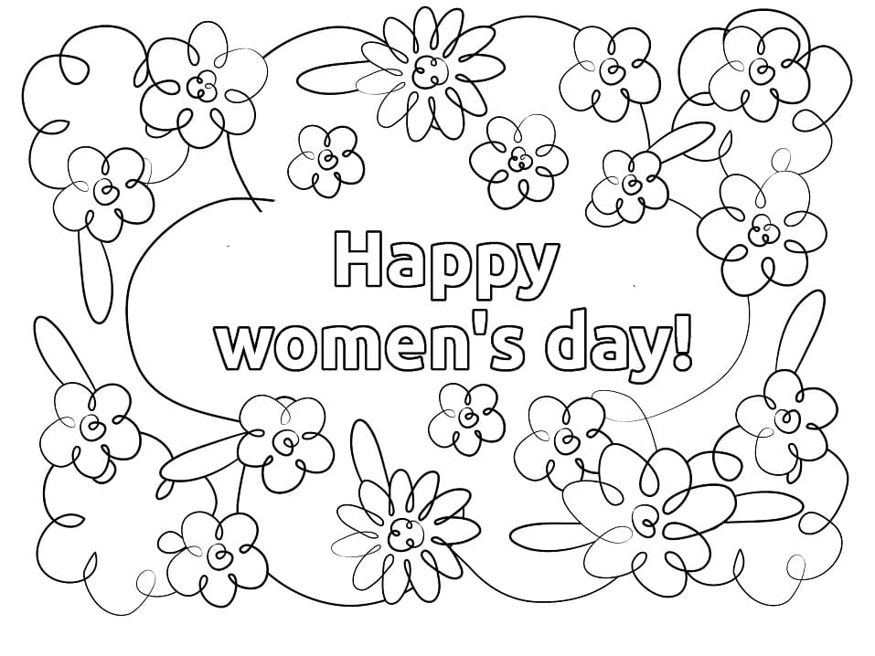 Top 20 Printable Women's Day Coloring Pages