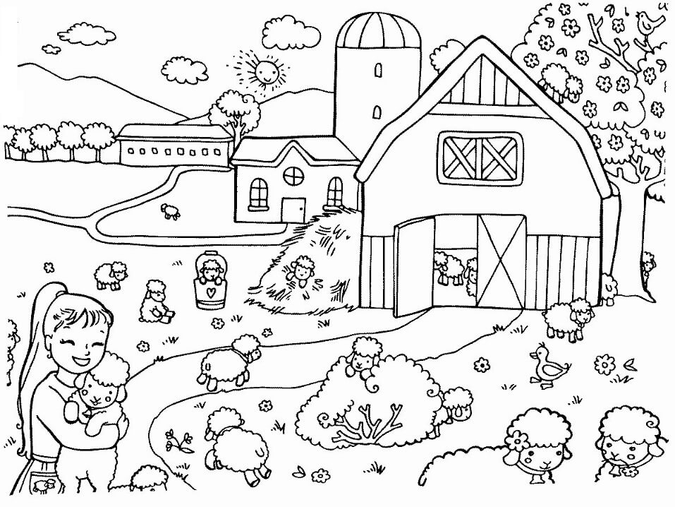 Top 24 Printable Farm Coloring Pages