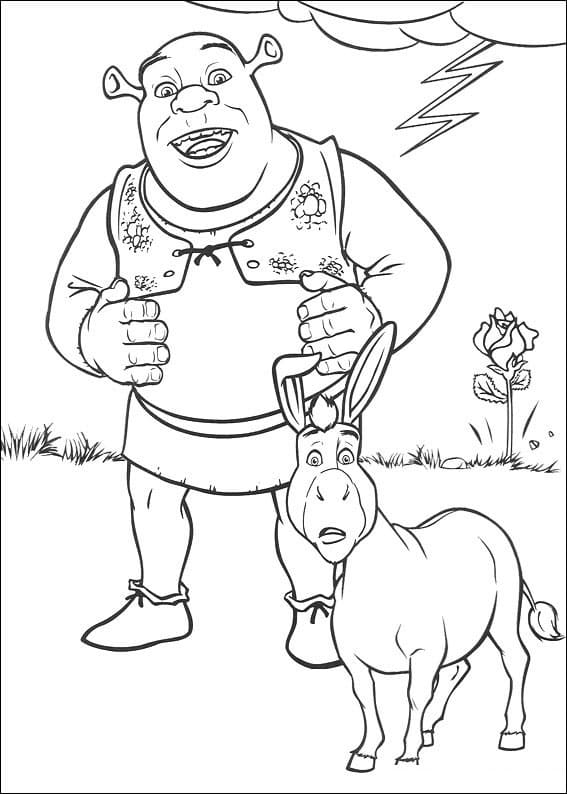 Top 40 Printable Shrek Coloring Pages