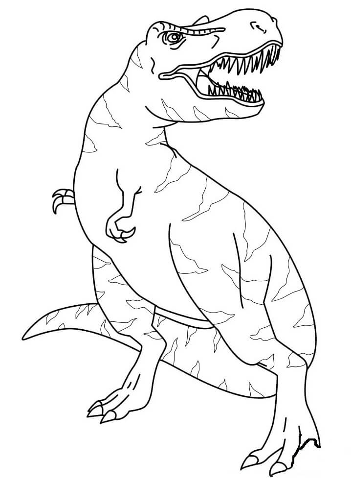 Top 20 printable T-Rex Coloring Pages