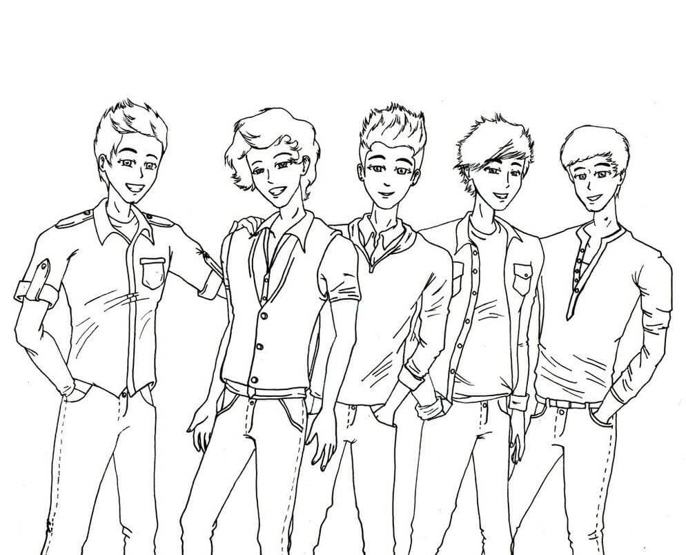 Top 16 Printable One Direction Coloring Pages