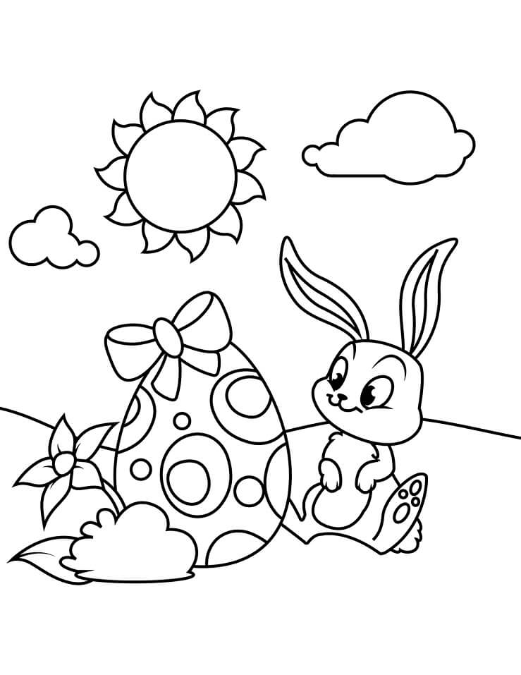 Top 40 Printable Easter Bunny Coloring Pages