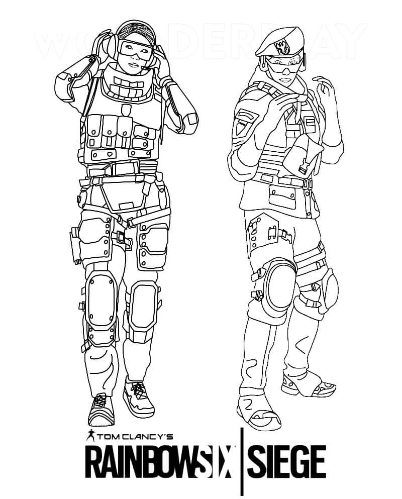Top 20 Printable Rainbow Six Siege Coloring Pages