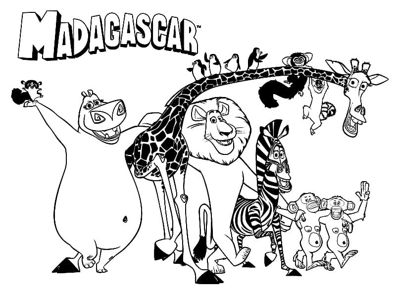Top 40 Printable Madagascar Coloring Pages