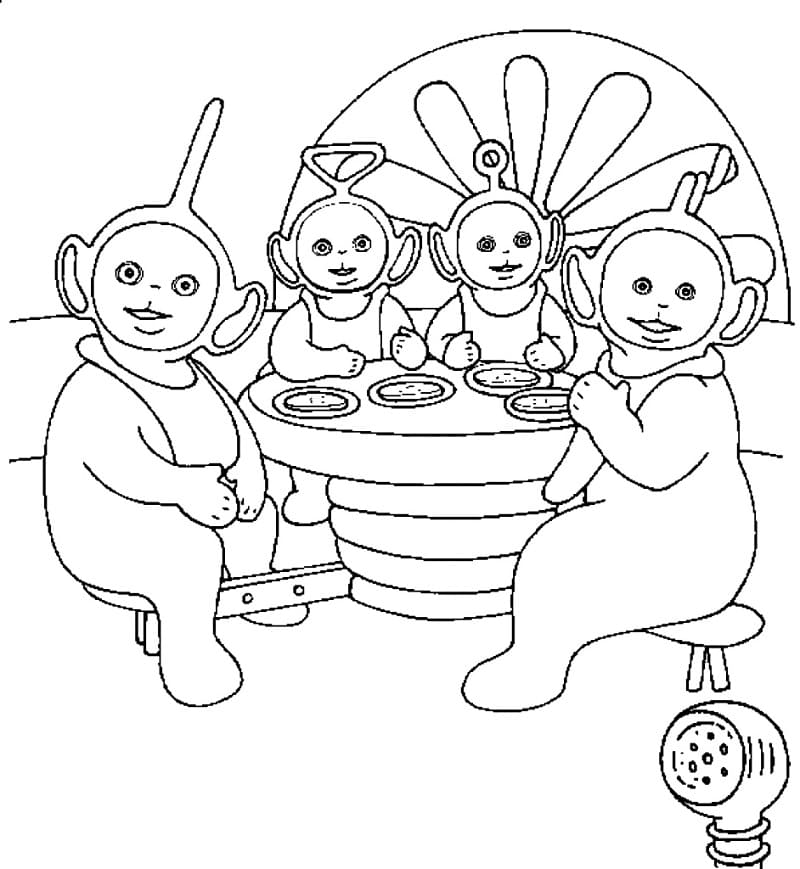Top 42 Printable Teletubbies Coloring Pages