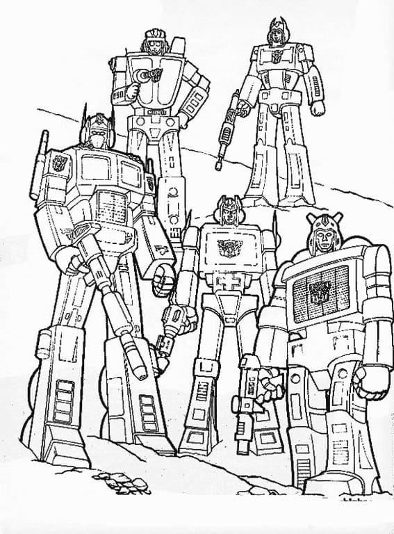 Top 70 Printable Transformers Coloring Pages