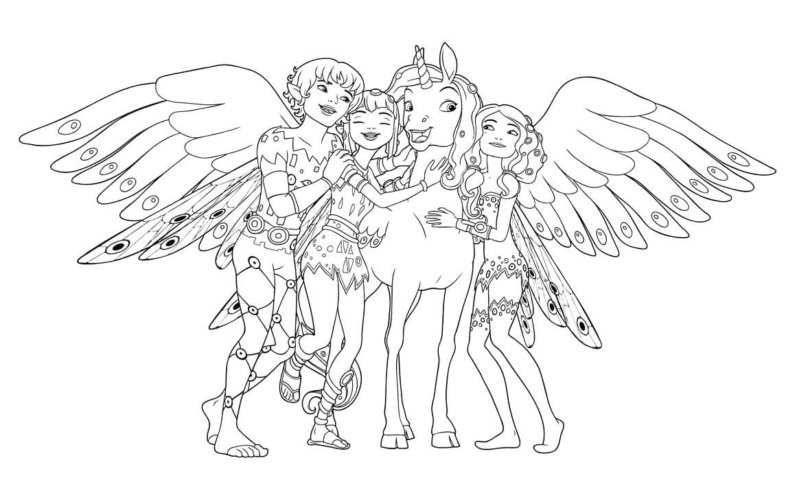 Top 20 Printable Mia and Me Coloring Pages