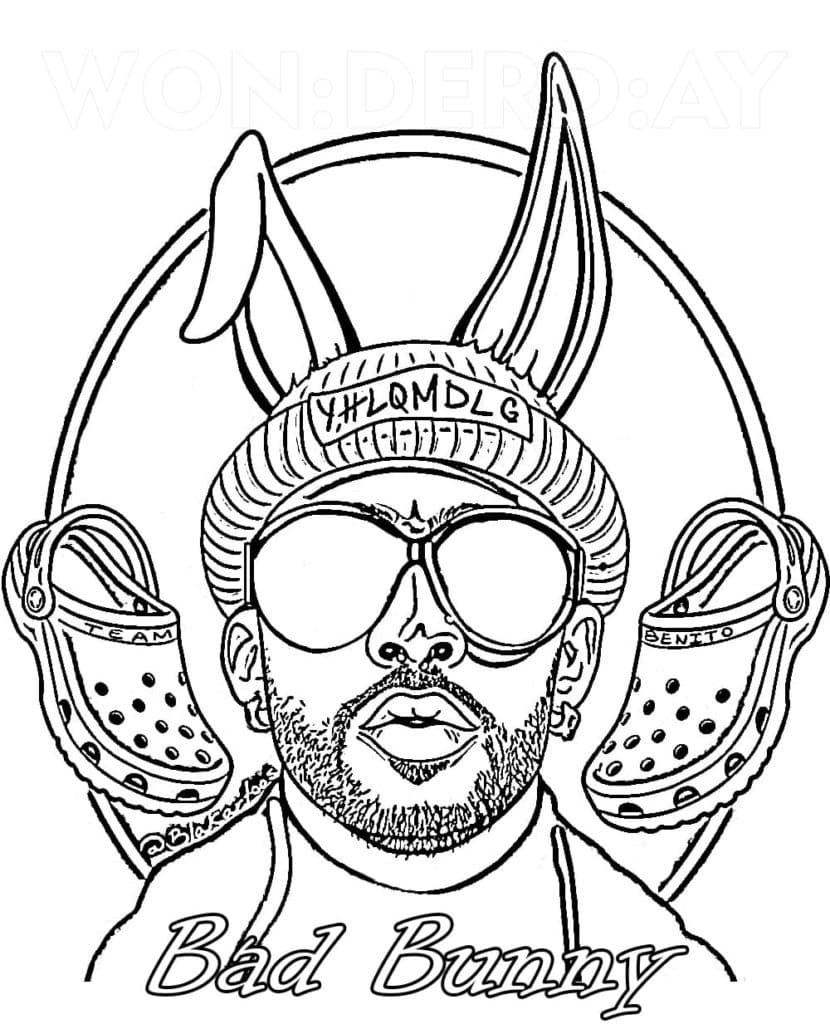 Top 25 Printable Bad Bunny Coloring Pages