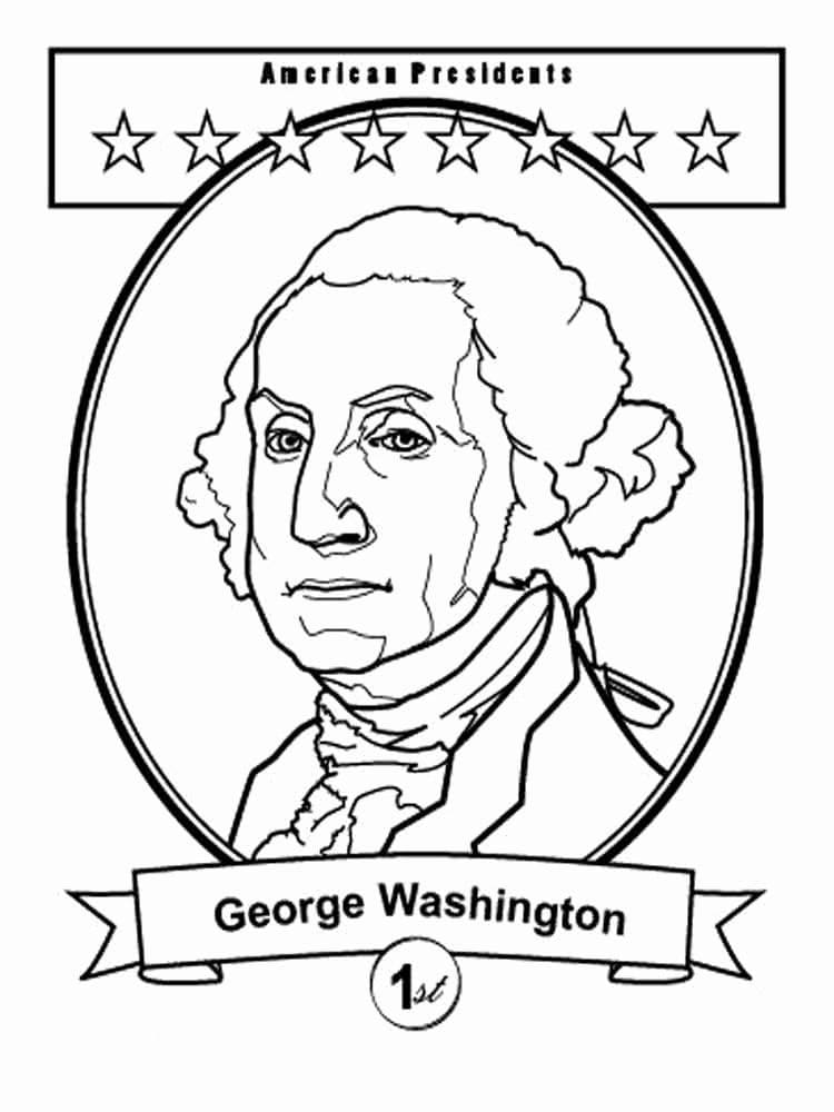 Top 36 Printable George Washington Coloring Pages