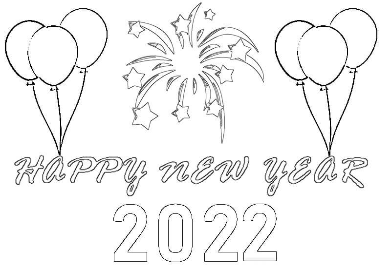 Top 10 Printable Happy New Year 2022 Coloring Pages