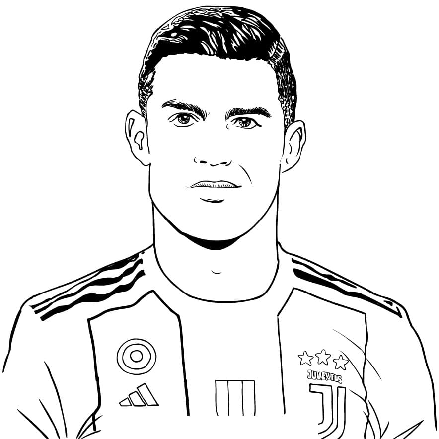 Top 17 Printable Cristiano Ronaldo Coloring Pages