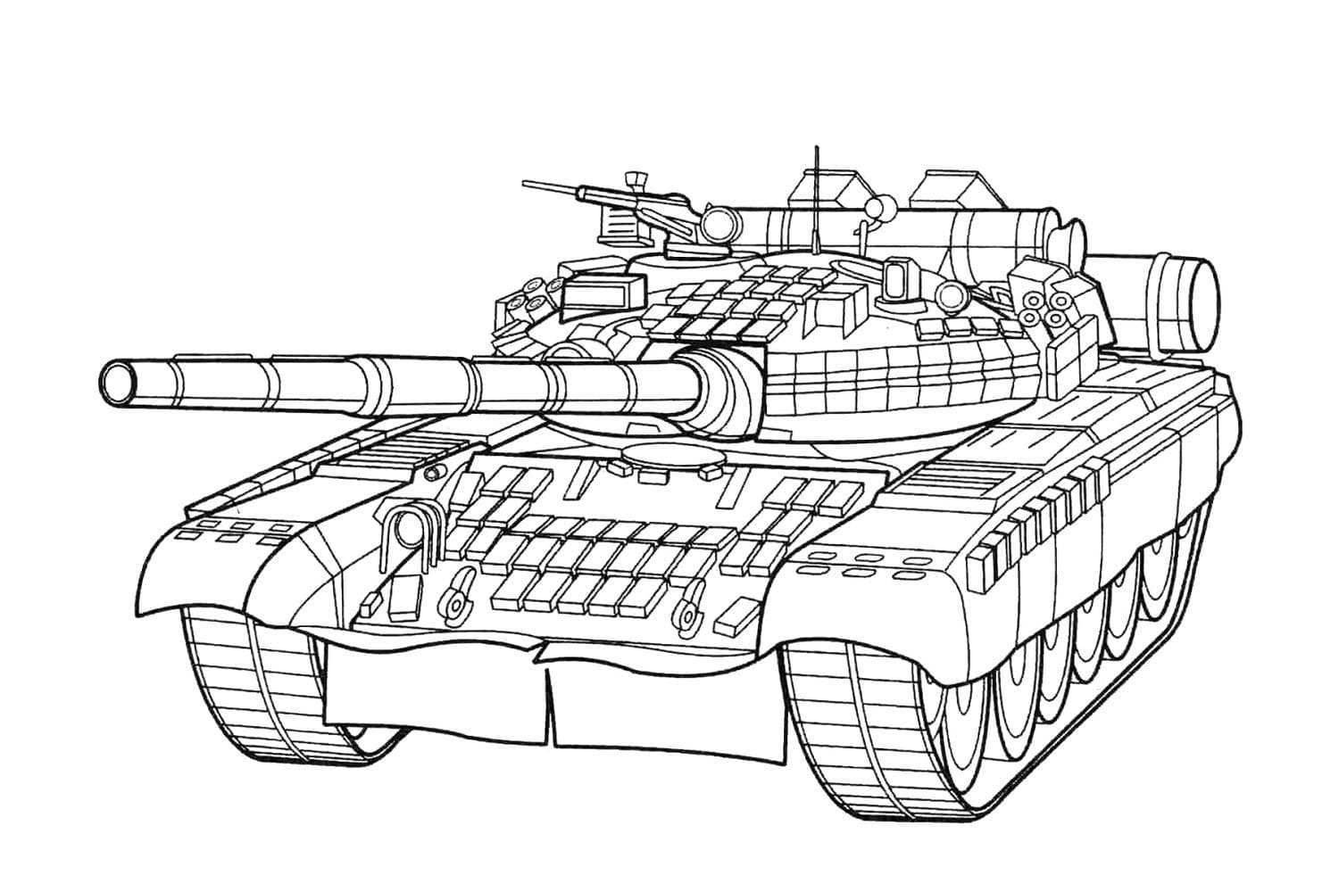 Top 40 Printable Tank Coloring Pages