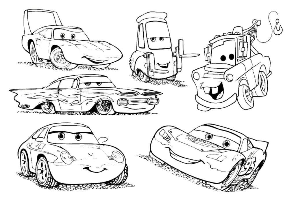 Top 50 Printable Lightning Mcqueen Coloring Pages - Online Coloring Pages
