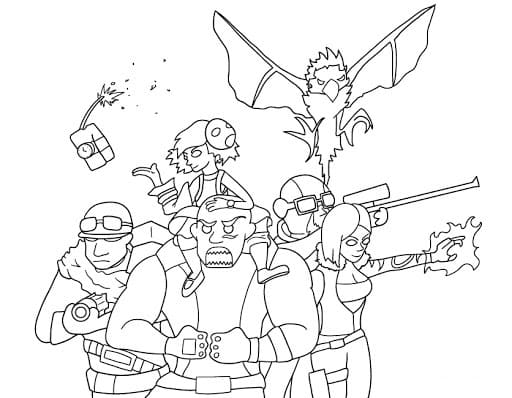 Top 30 Printable Borderlands Coloring Pages