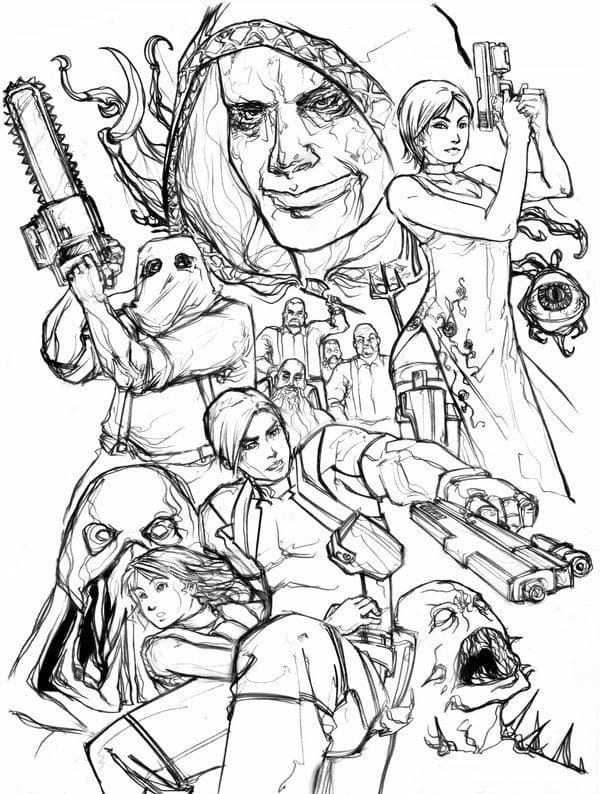 Top 27 Printable Resident Evil Coloring Pages