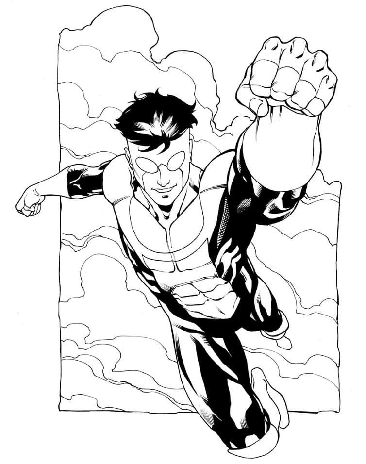 Top 22 Printable Invincible Coloring Pages