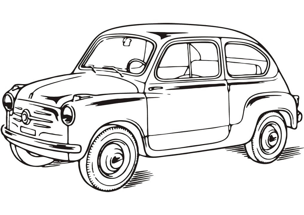 Top 20 Printable Fiat Coloring Pages