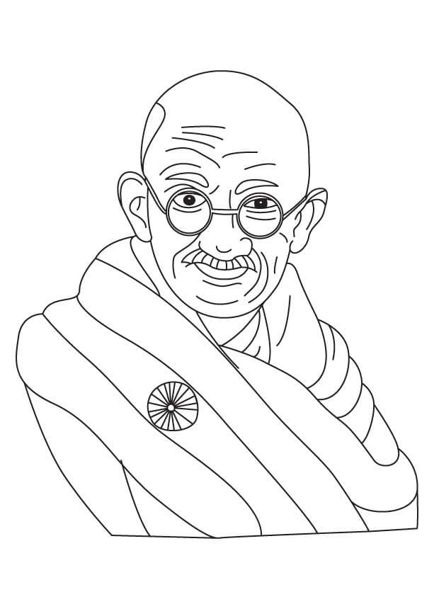 Top 9 Printable Mahatma Gandhi Coloring Pages
