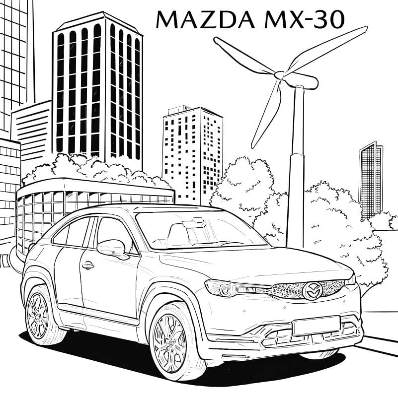 Top 30 Printable Mazda Coloring Pages