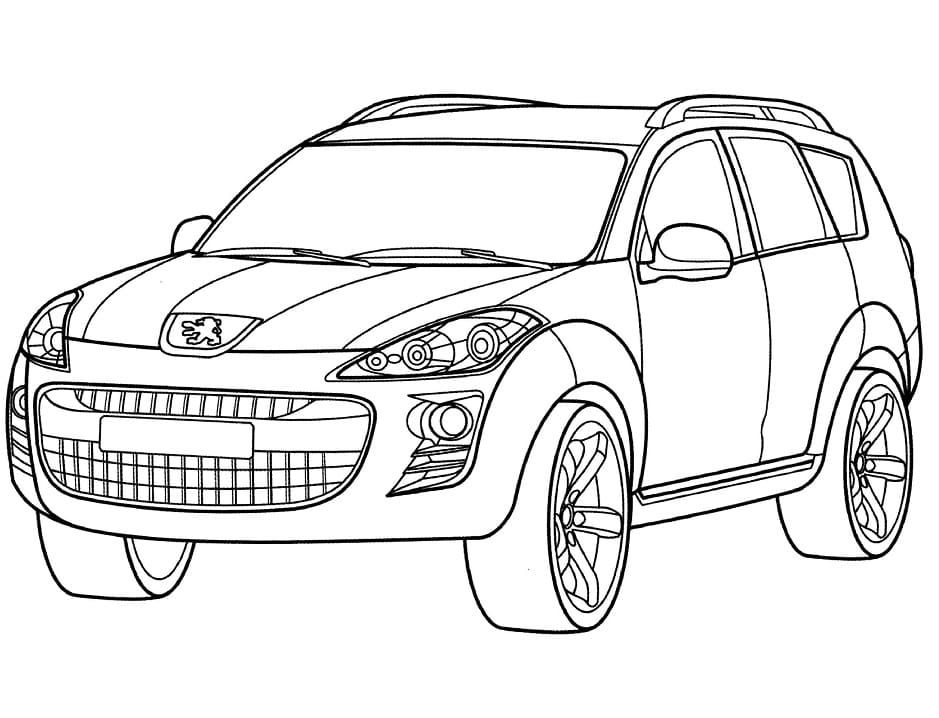 Top 30 Printable Peugeot Coloring Pages