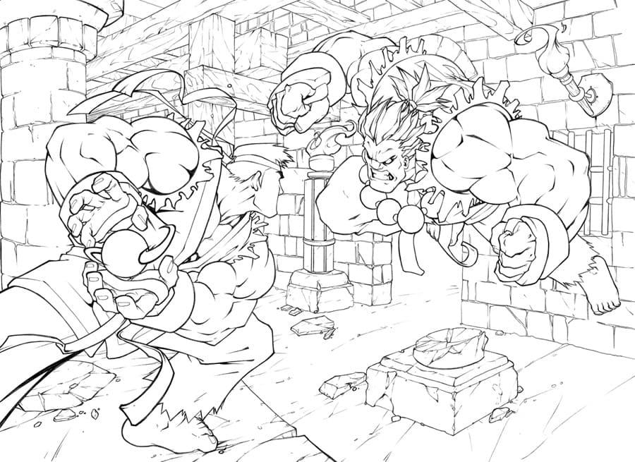 Top 30 Printable Street Fighter Coloring Pages
