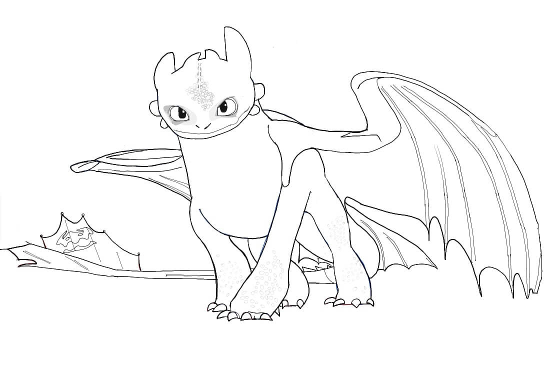 Top 50 Printable Toothless Coloring Pages