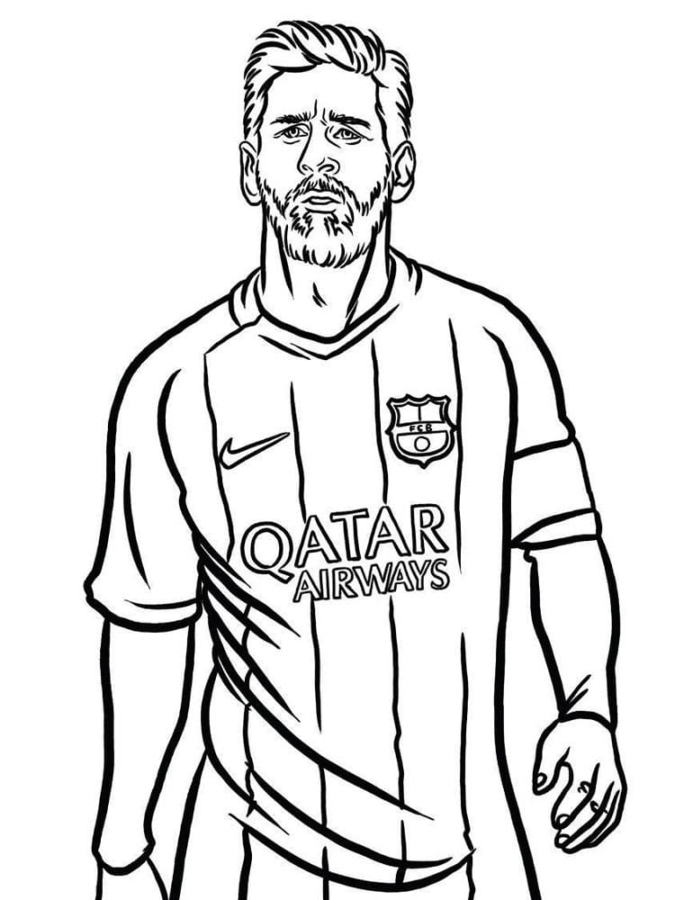 Top 15 Printable Lionel Messi Coloring Pages