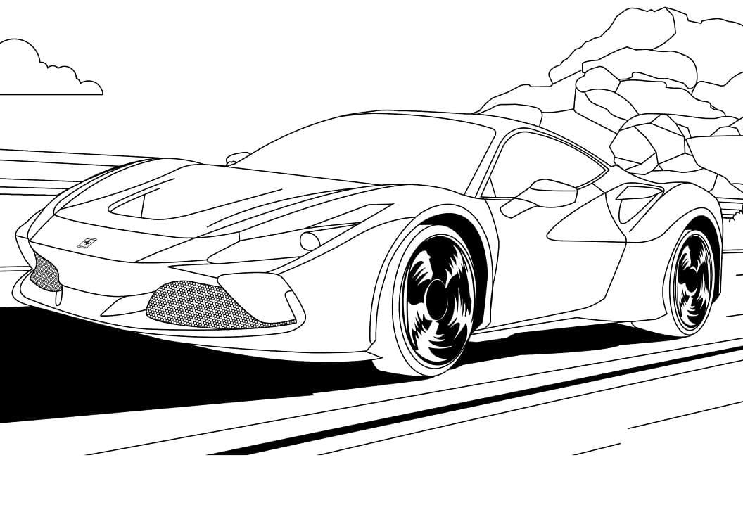 Top 30 Printable Ferrari Coloring Pages