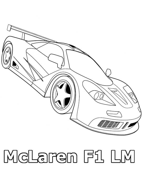 Top 20 Printable McLaren Coloring Pages
