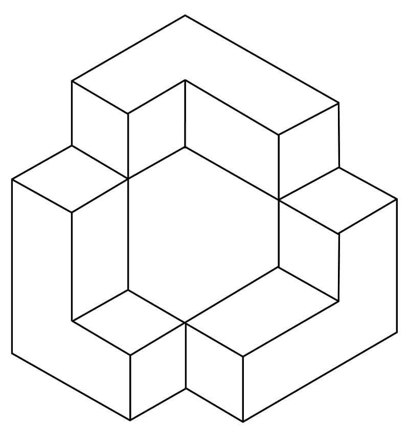 Top 35 Printable Optical Illusions Coloring Pages