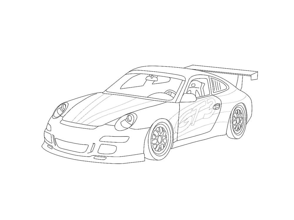 Top 25 Printable Porsche Coloring Pages