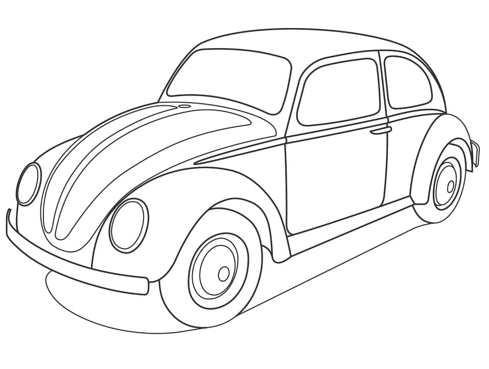 Top 24 Printable Volkswagen Coloring Pages