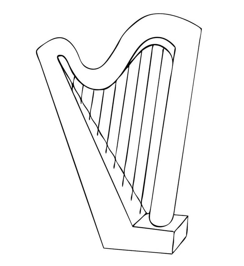 Top 20 Printable Harp Coloring Pages
