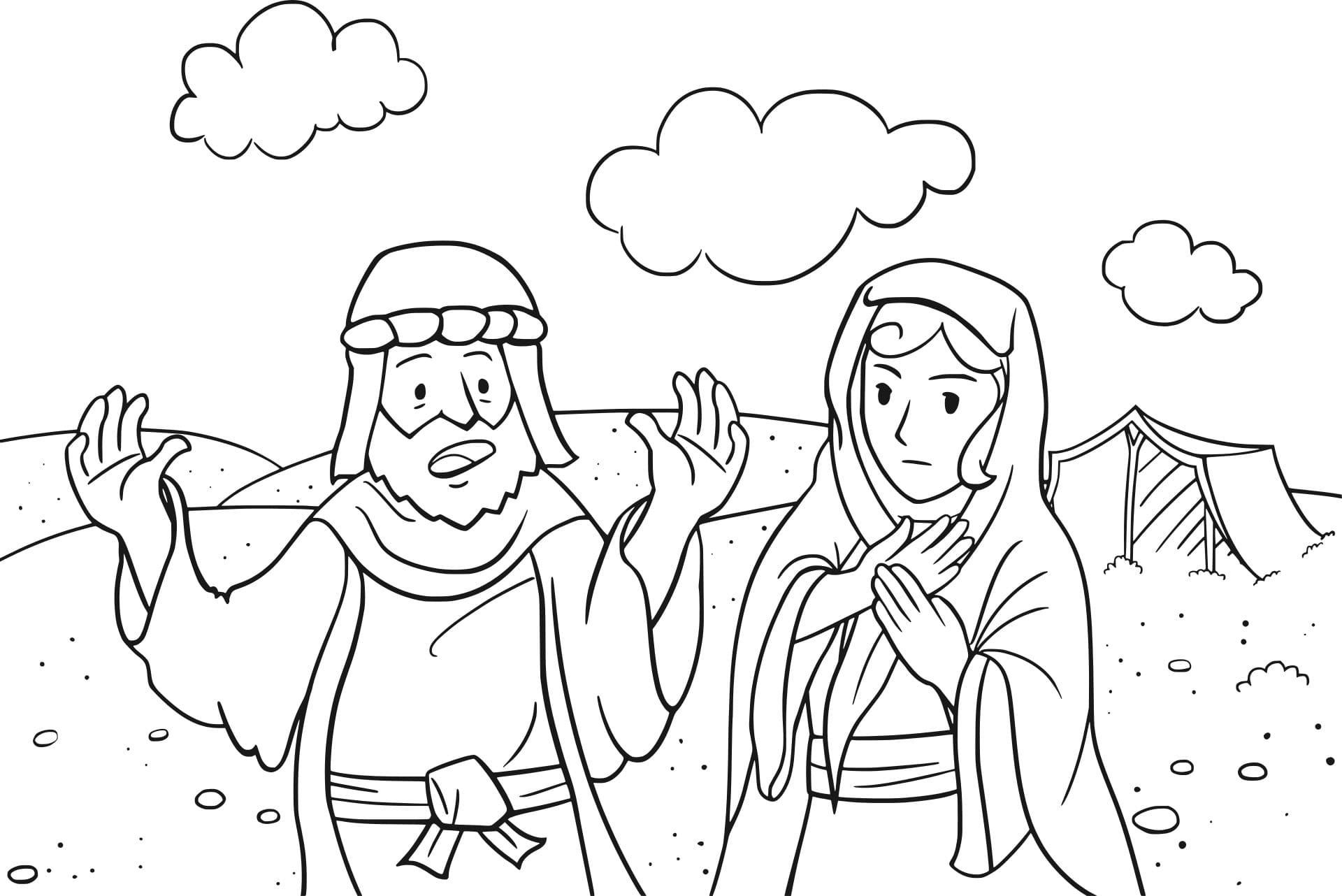 Top 30 Printable Abraham and Sarah Coloring Pages