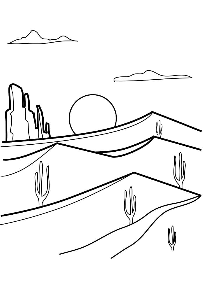 Top 29 Printable Desert Coloring Pages