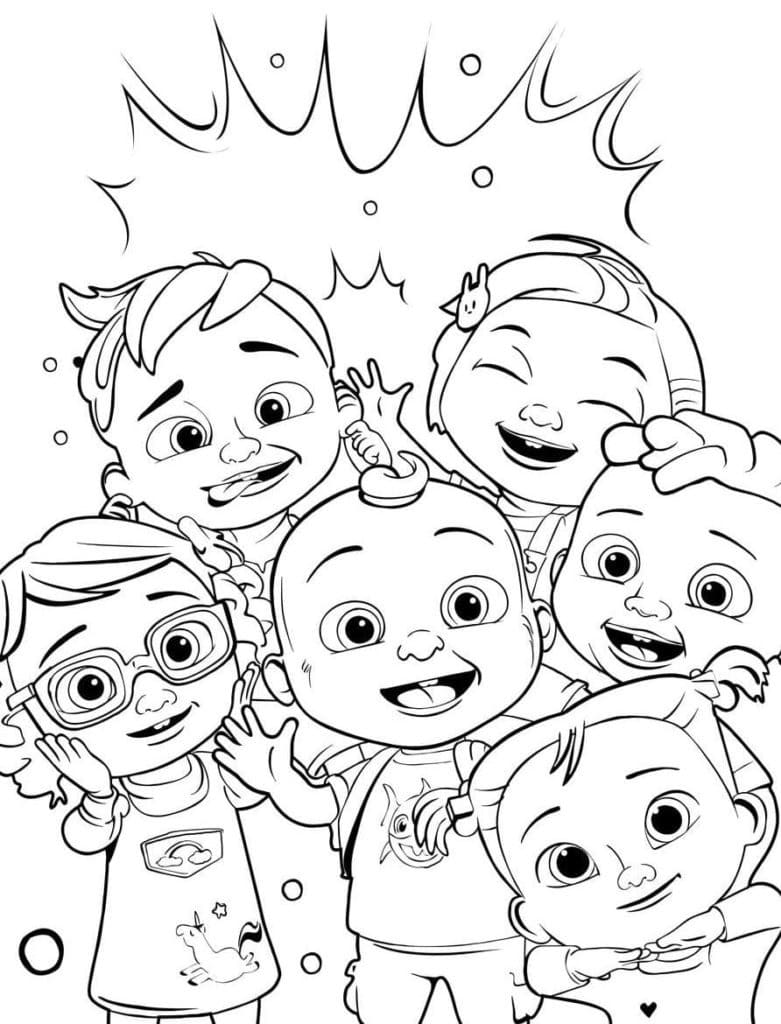 Top 30 Printable Cocomelon Coloring Pages