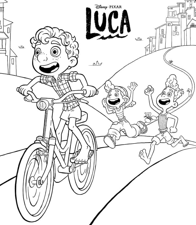 Top 28 Printable Luca Coloring Pages